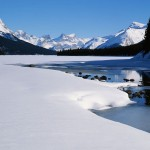 Spring Snow, Maligne Lake, Jasper National Park, Canada