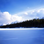 Winter, Herbert Lake, Banff National Park