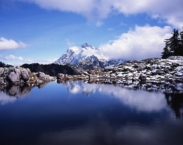 Frozen tarn, Mt. Shuksan