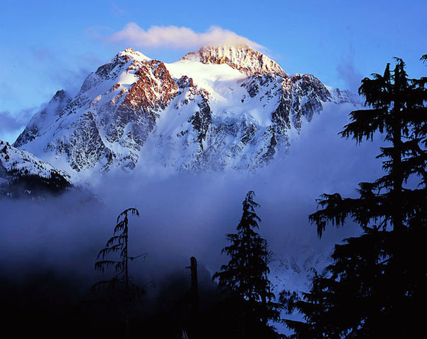 Mt. Shuksan, evening light