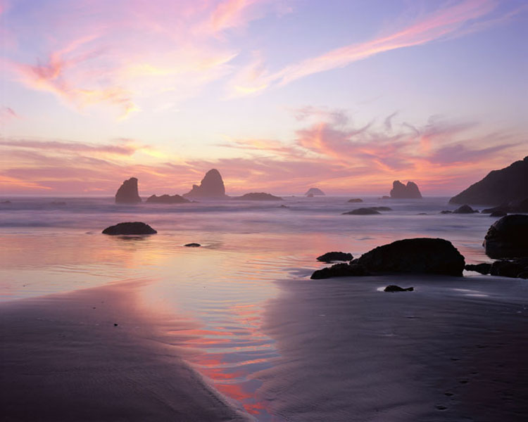 Sunset, Moonstone Beach, California